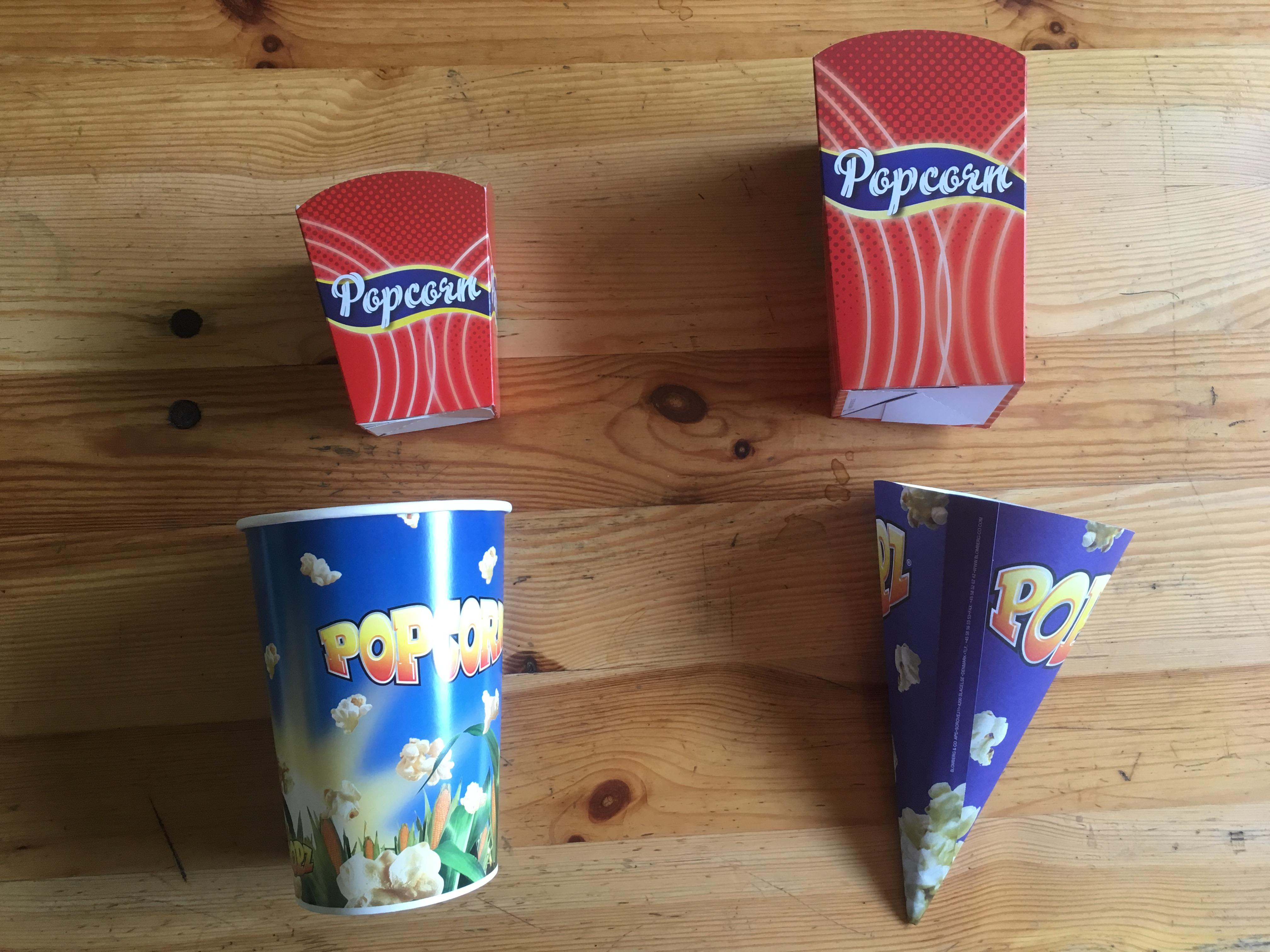 Popcornstrutar/bägare
